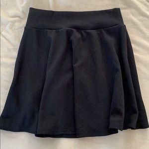 Black plain skirt